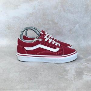 Vans Off The Wall Old Skool Low Top Red Sneakers